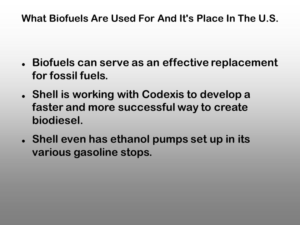 What Biofuels Are Used For And It s Place In The U.S.