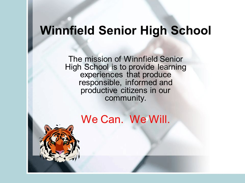 Winnfield Senior High School The mission of Winnfield Senior High School is to provide learning experiences that produce responsible, informed and pro