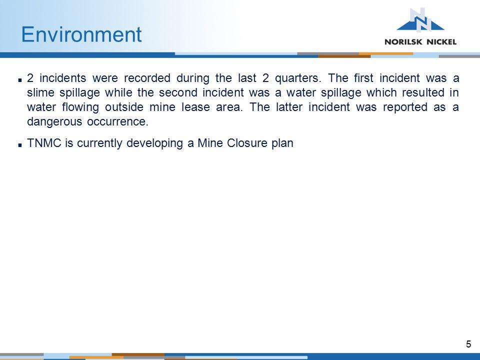 6 TNMC SHEQms  TNMC continues to maintain its SHEQms.