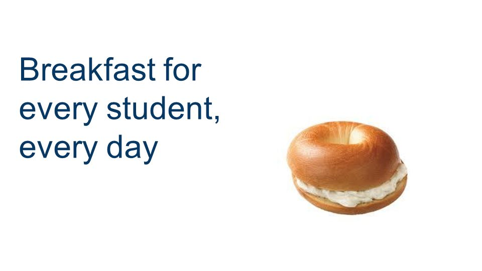 Breakfast for every student, every day