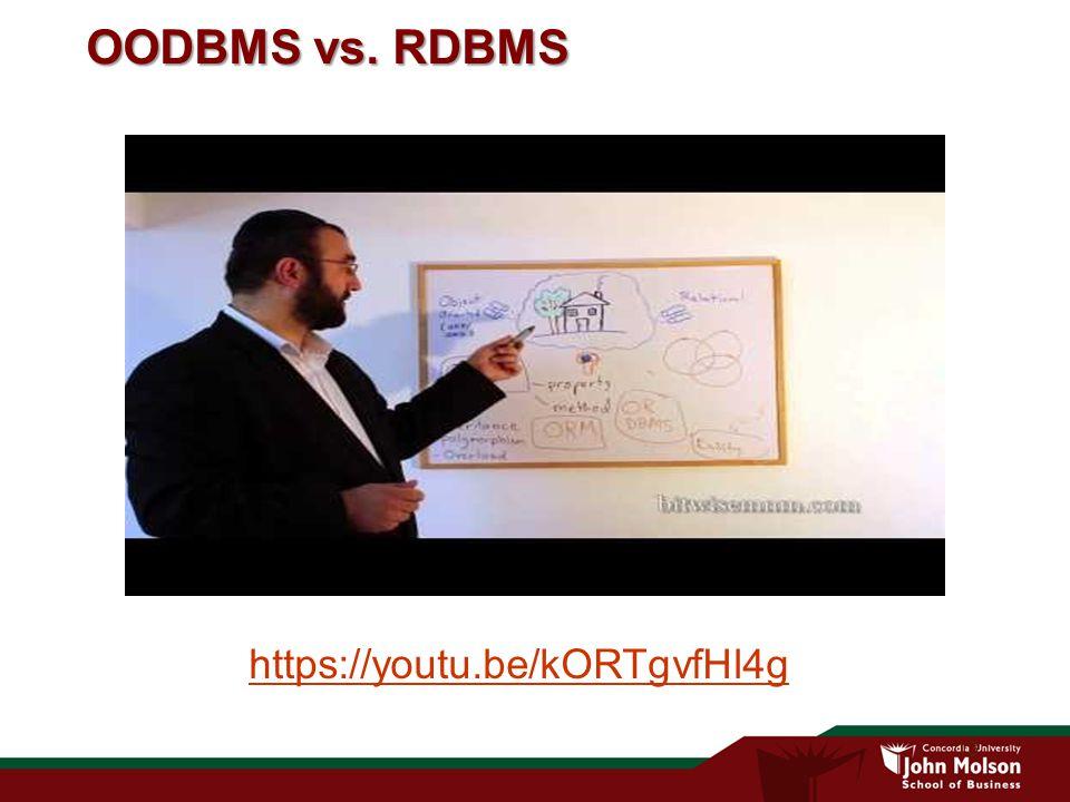 13 OODBMS vs. RDBMS https://youtu.be/kORTgvfHl4g