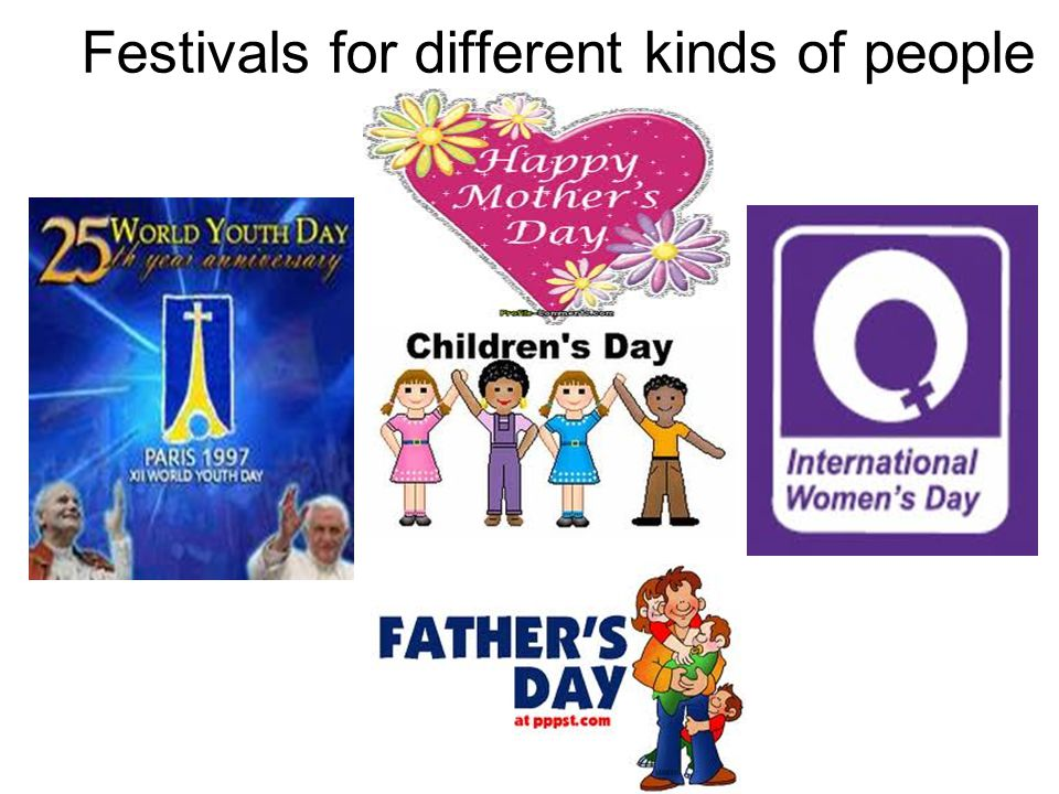 Festivals for different kinds of people