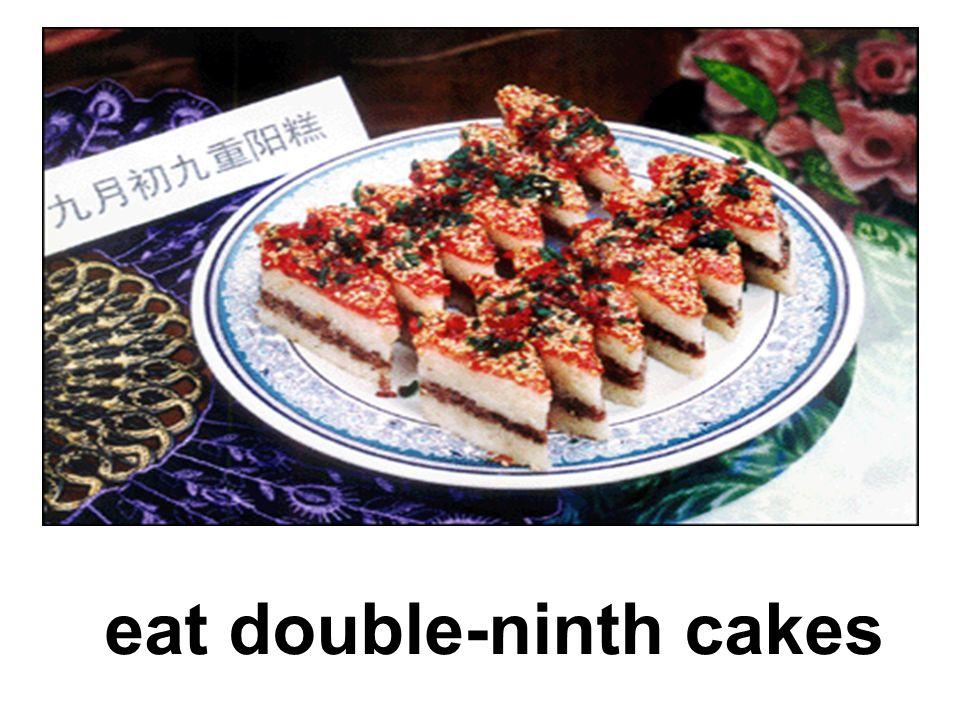 eat double-ninth cakes