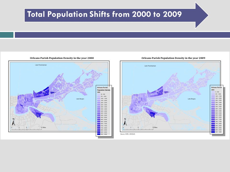 Total Population Shifts from 2000 to 2009