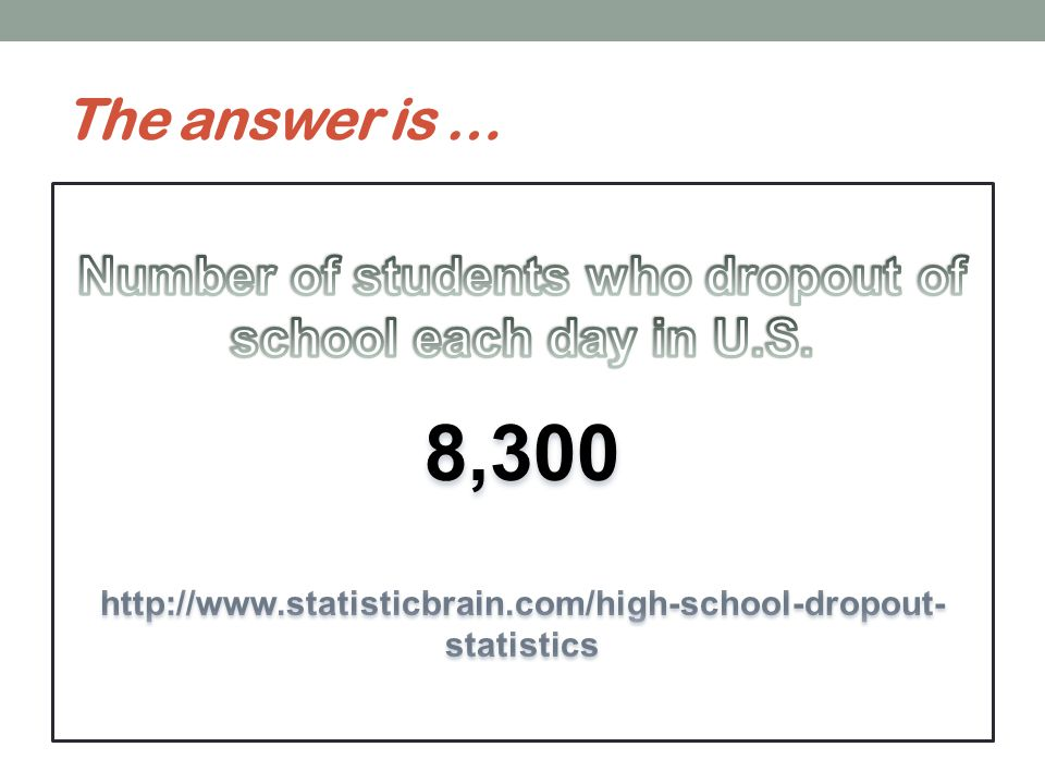 Do You Know? The number of students in North Carolina who dropped out of school in 2011