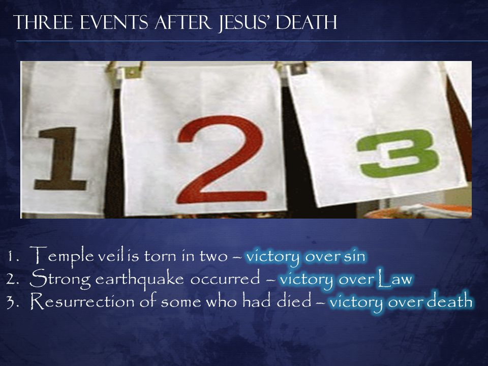 Three Events After Jesus' Death