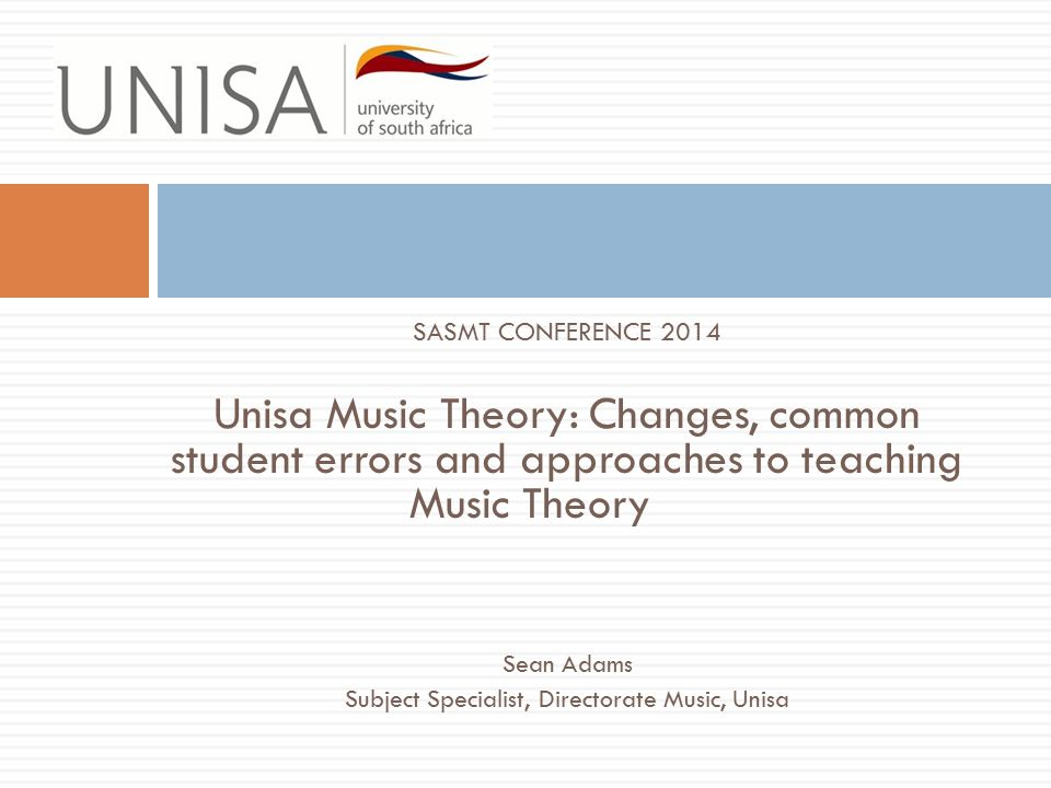 Changes to Music Theory Grade 2: ● Note values:add the dotted quaver and semiquaver ● Time signatures:add 6/8; 9/8 Grade 3: ● Time signatures: add 2/2; 3/2; 4/2 Grade 6: ● Counterpoint: Replace the two-part writing exercise with the analysis of two-part inventions Nos 1 - 8 of JS Bach.