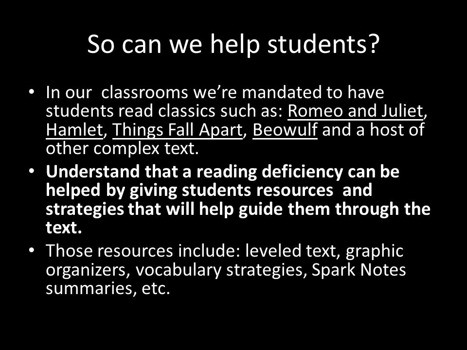So can we help students.