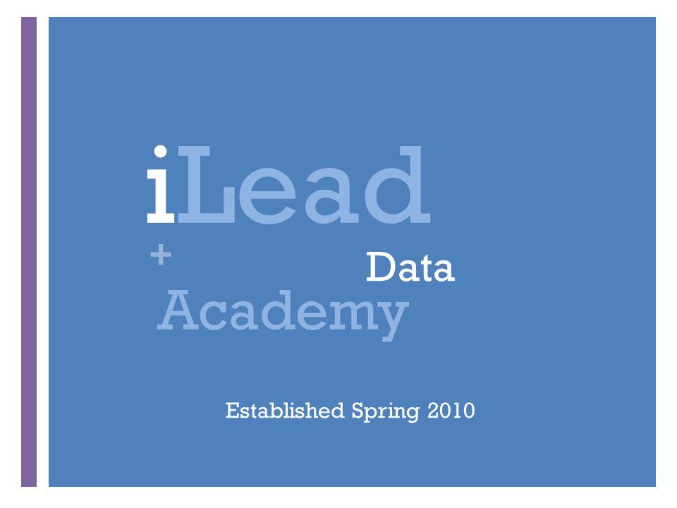 + Data iLead Academy Established Spring 2010