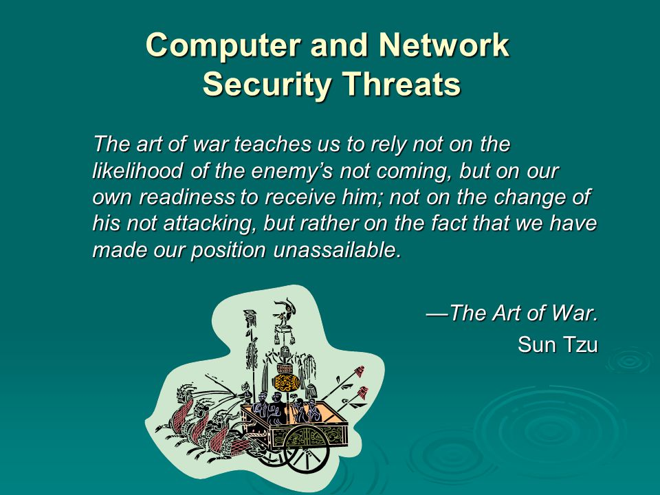 Software  includes operating system, utilities and application programs  key threats: easy to delete can be altered or damaged can be modified license can be compromised or misused piracy