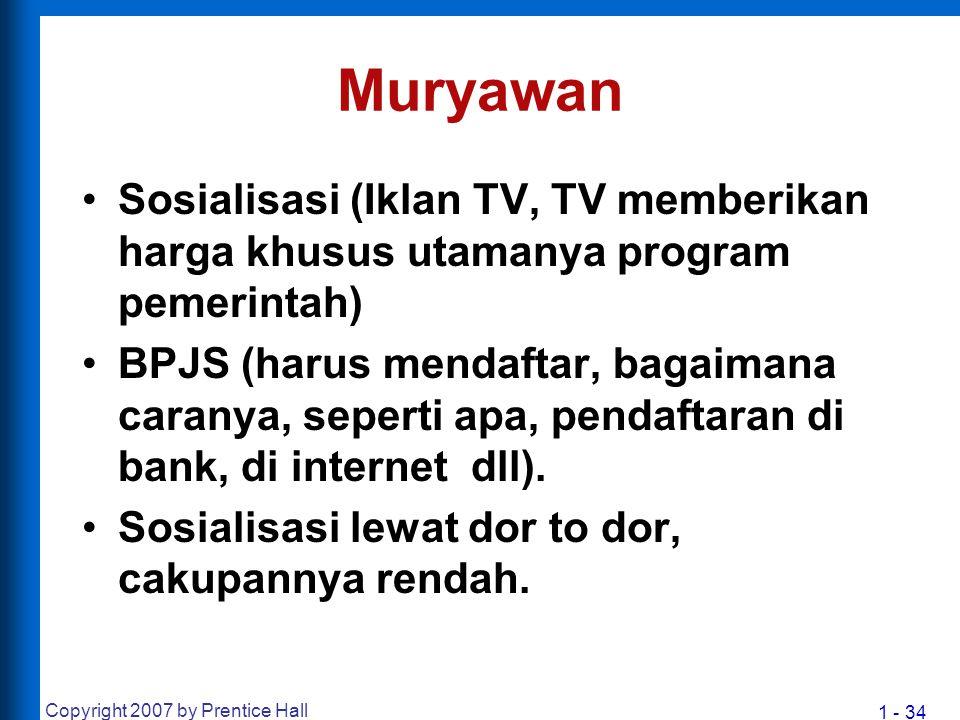 1 - 34 Muryawan Sosialisasi (Iklan TV, TV memberikan harga khusus utamanya program pemerintah) BPJS (harus mendaftar, bagaimana caranya, seperti apa,