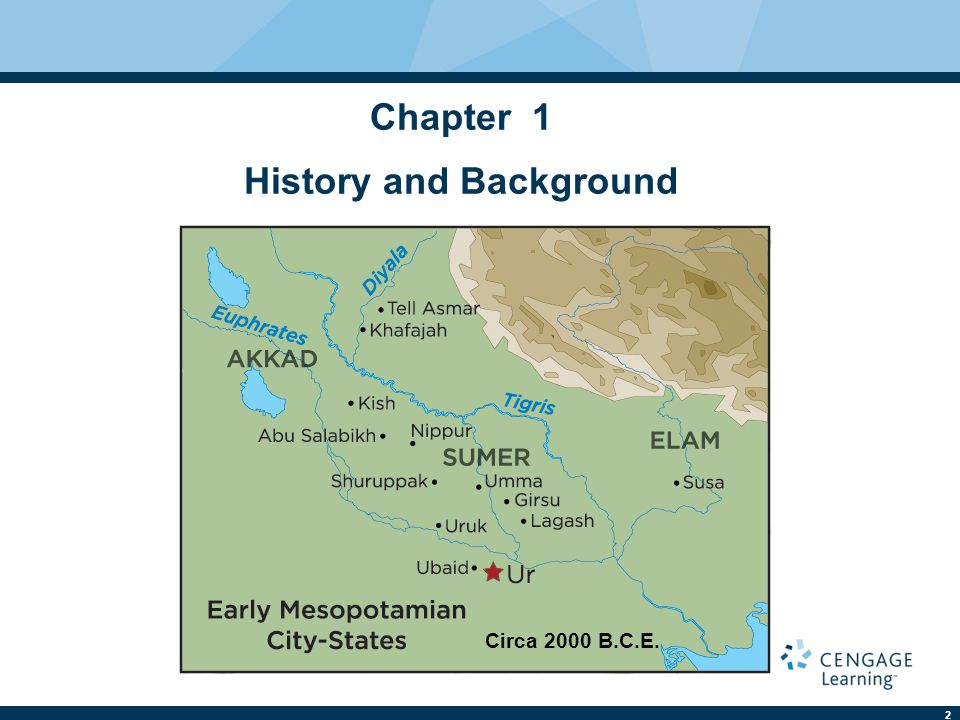 2 Chapter 1 History and Background Circa 2000 B.C.E.