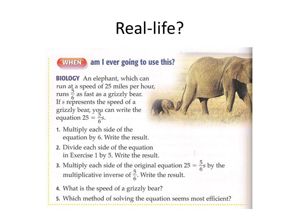 Real-life?