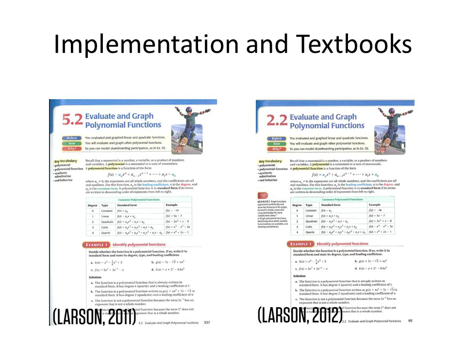 Implementation and Textbooks