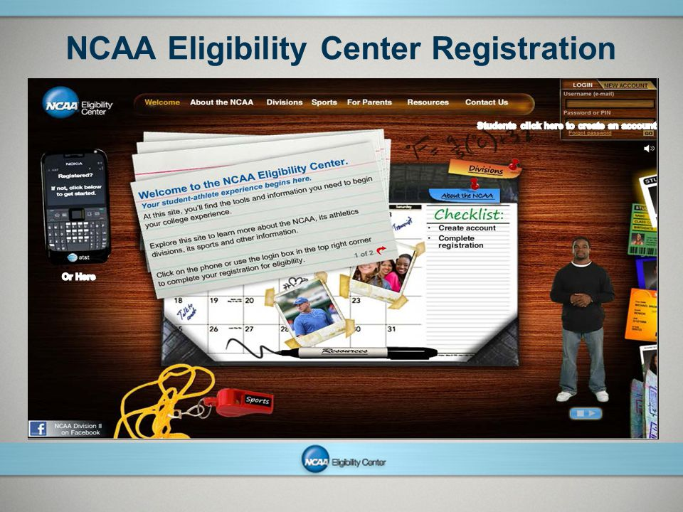 NCAAPresentation Title Company Name Month ##, Year page 18 NCAA Eligibility Center Registration