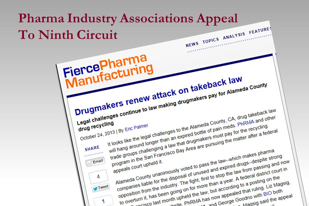 Pharma Industry Associations Appeal To Ninth Circuit 15