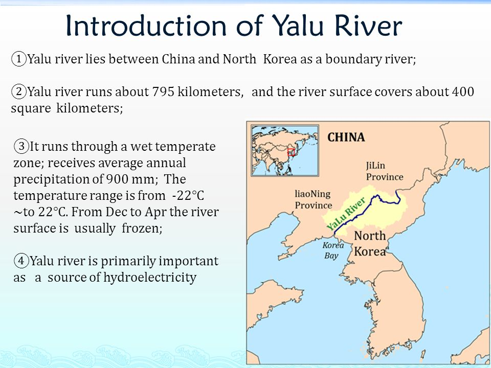 The Source of Yalu River BaiTou Mountain http://english.cntv.cn/program/documentary/20111014/118246.shtml Yalu river comes from the Heaven Lake which is at the peak of BaiTou Mountain on the border of China and North Korea and is the highest lake in the world.