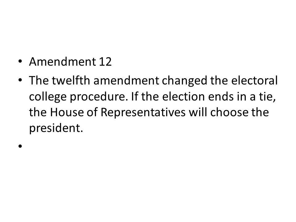 Amendment 13 The thirteenth amendment abolished slavery.