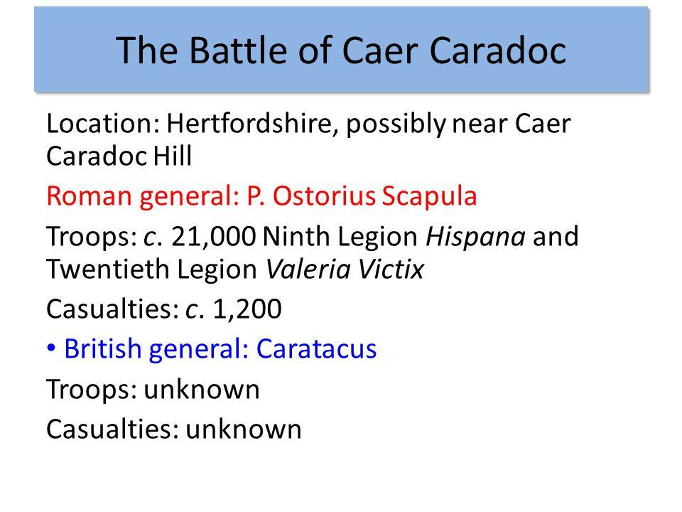 Battle of Caer Caradoc Account in Tacitus, Annales 12.33-38 Briton Caratacus Vs Roman P.