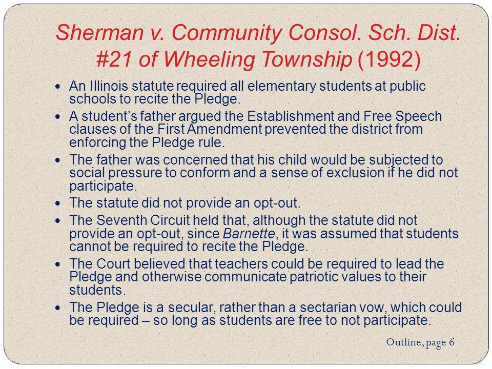Sherman v. Community Consol. Sch. Dist.