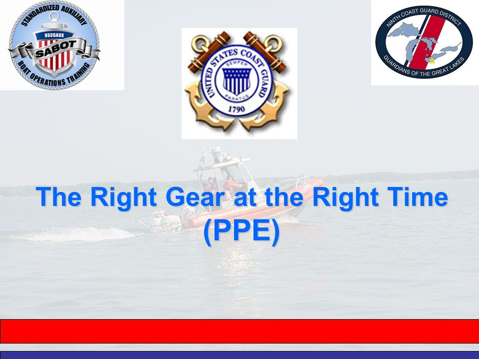 The Right Gear at the Right Time (PPE)