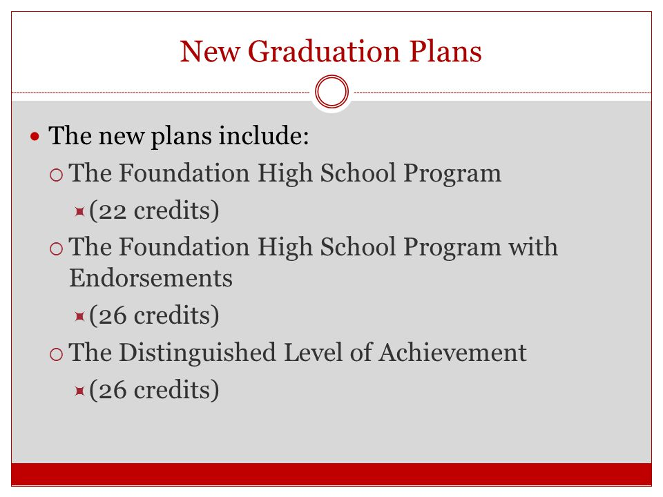 New Graduation Plans 2014-2015 Graduation Plan Flowchart AVAILABLE IN SPANISH