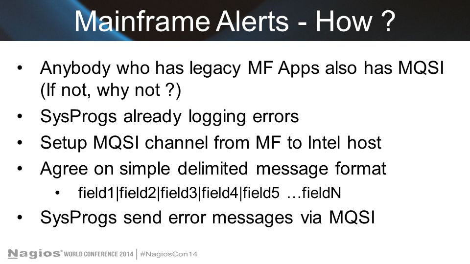 Mainframe Alerts - How .