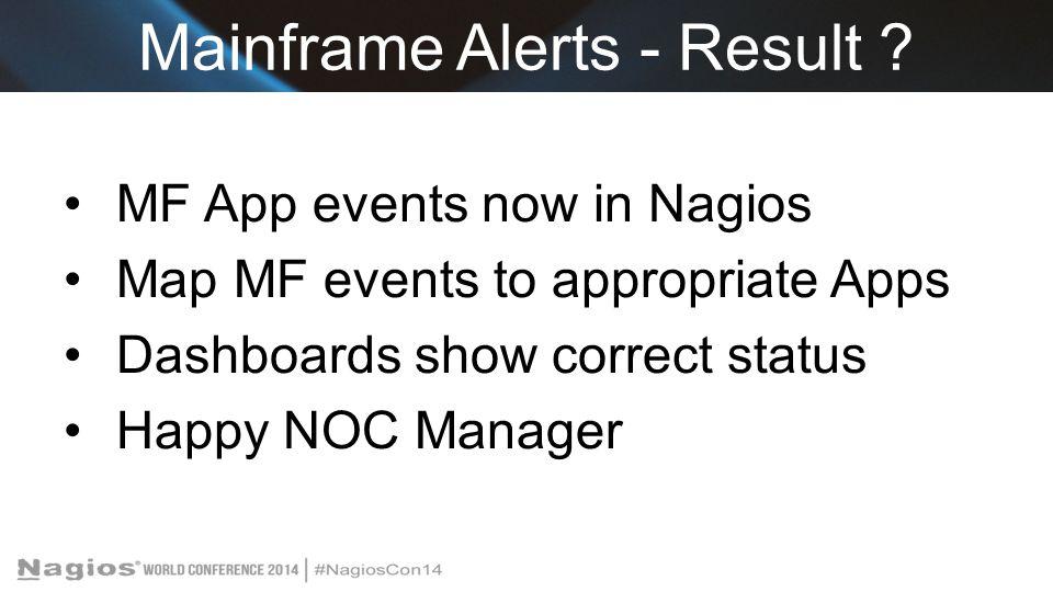 Mainframe Alerts - Result .