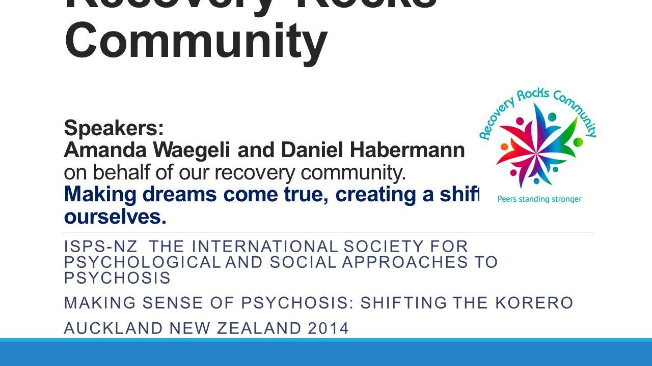 Daniel's Sharing Daniel Habermann A community members perspective.