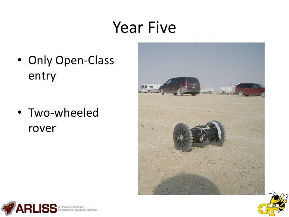 Year Five Only Open-Class entry Two-wheeled rover