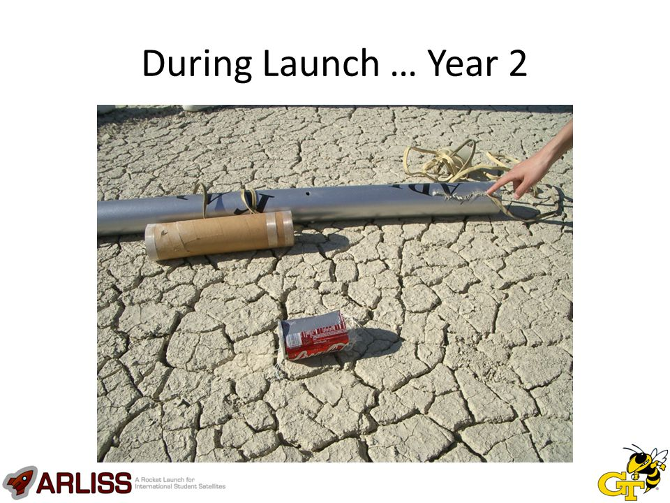 Year Eight Results Survived impact without physical damage (encased wheels and shock absorbers) Did not move after landing Microprocessor appeared functional, but GPS not functional