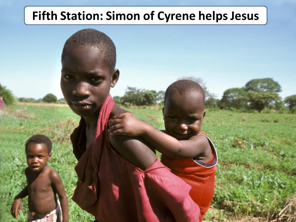 Fifth Station: Simon of Cyrene helps Jesus