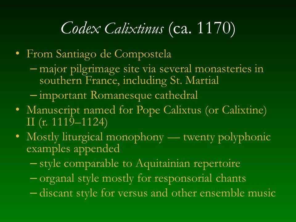 Codex Calixtinus (ca.