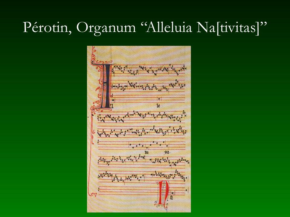 Pérotin, Organum Alleluia Na[tivitas]