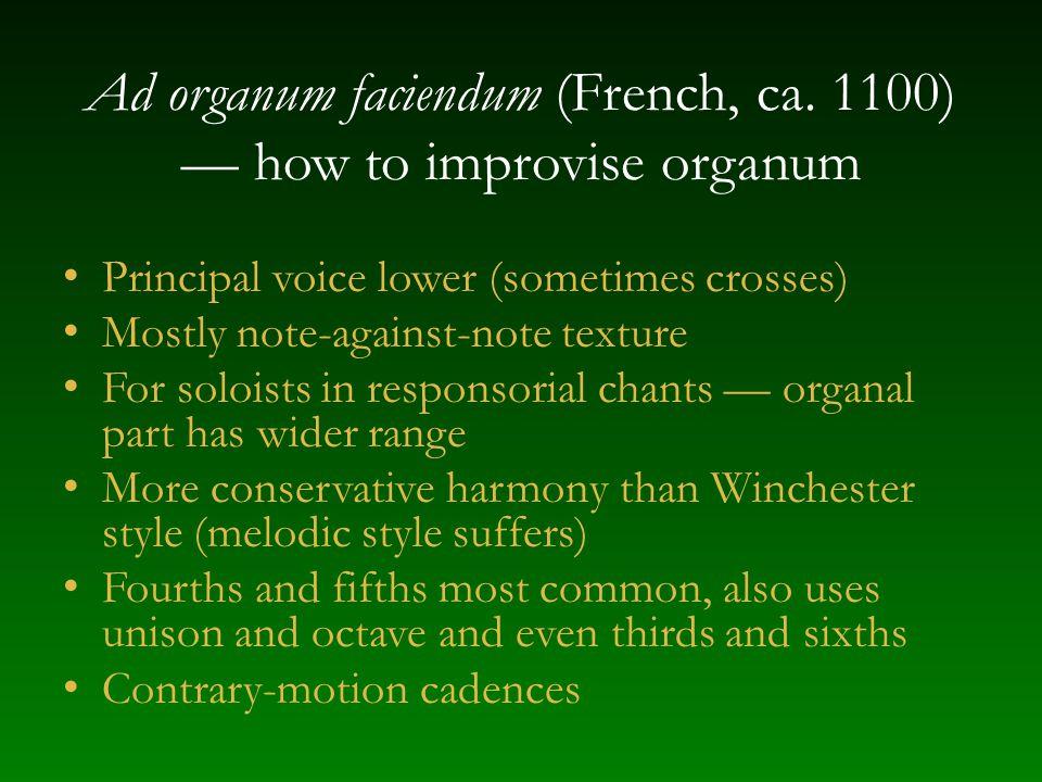 Ad organum faciendum (French, ca.