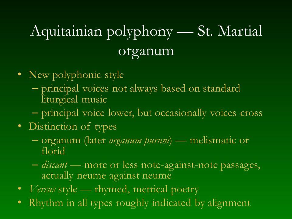Rhythmic modes in Notre Dame polyphony — ordering the parts 1 (trochaic)long-short (   ) 2 (iambic)short-long (   ) 3 (dactylic)long-short-short ( .