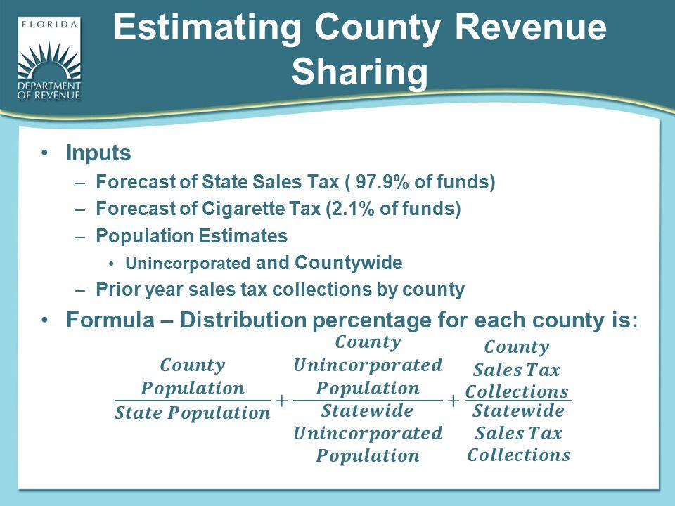 Estimating County Revenue Sharing