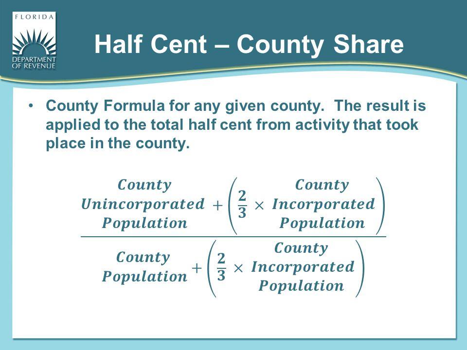 Half Cent – County Share