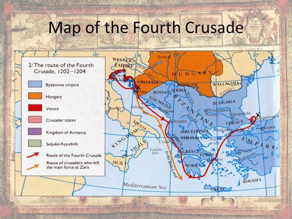 Map of the Fourth Crusade