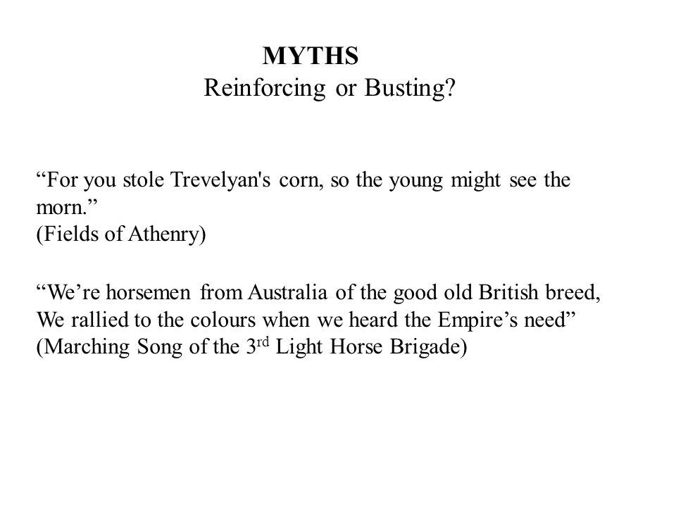 MYTHS Reinforcing or Busting.