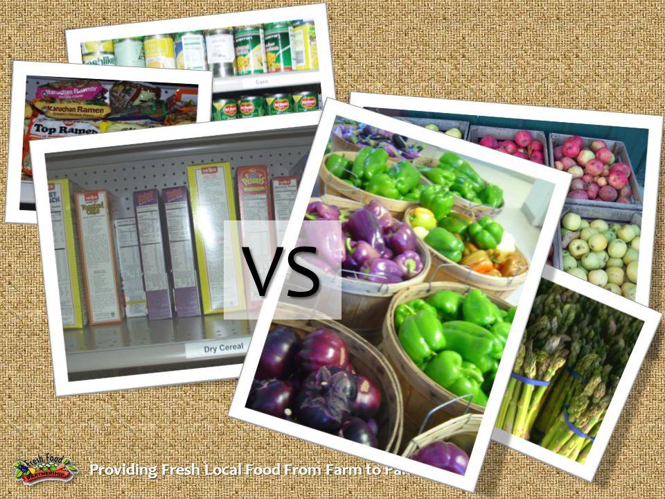Providing Fresh Local Food From Farm to Pantry VS