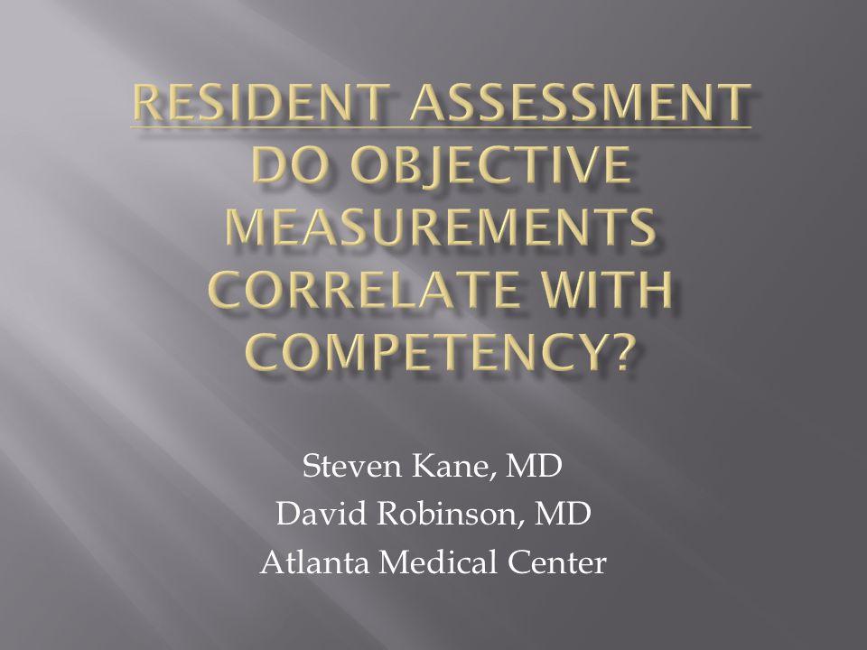 Steven Kane, MD David Robinson, MD Atlanta Medical Center