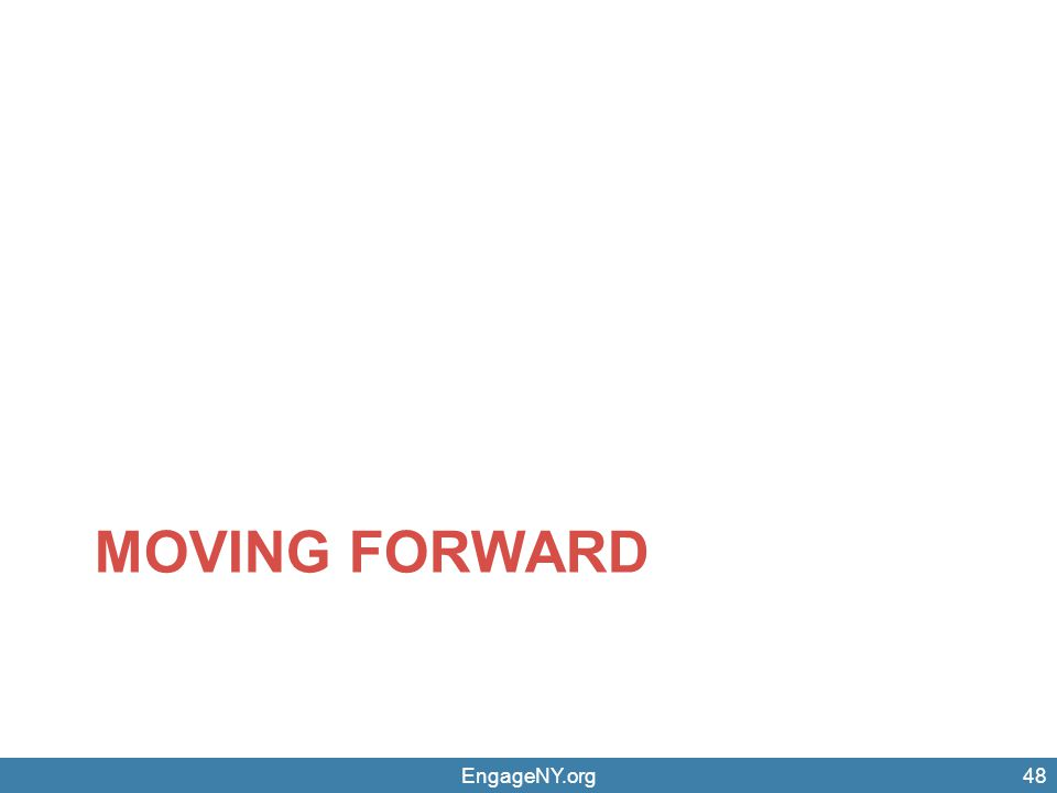 EngageNY.org48 MOVING FORWARD