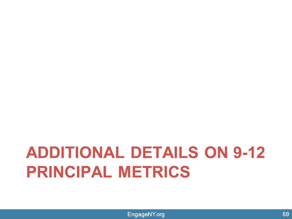 EngageNY.org59 ADDITIONAL DETAILS ON 9-12 PRINCIPAL METRICS