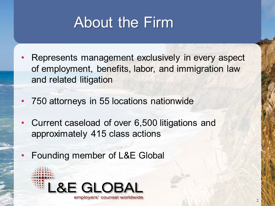 Strategically Located Throughout the Nation to Serve Employers' Needs 3 54 Locations Nationwide