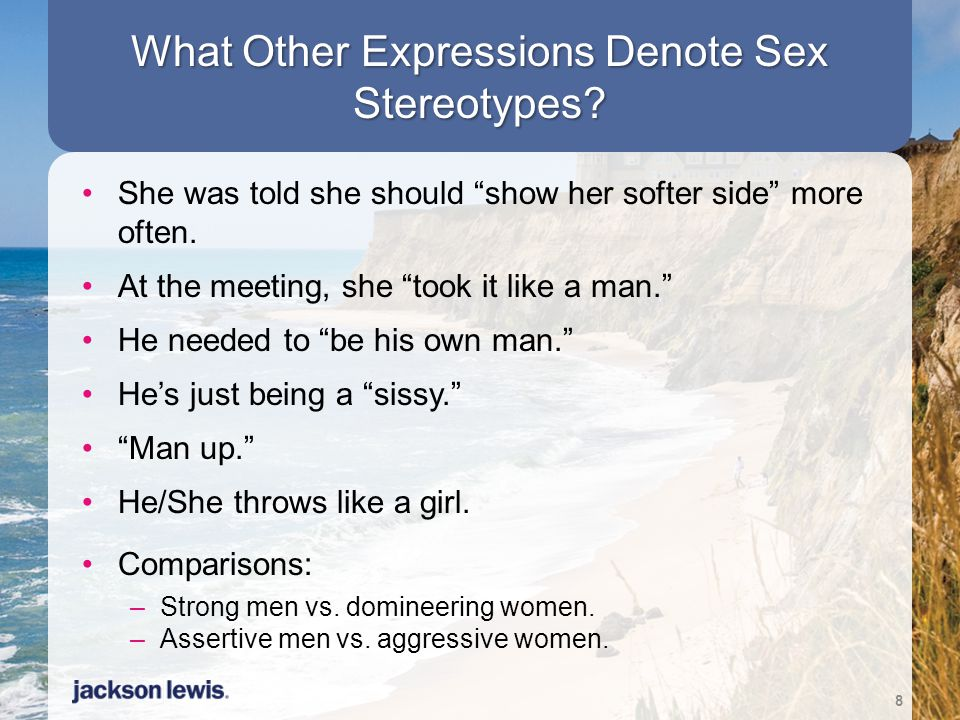 What Other Expressions Denote Sex Stereotypes.