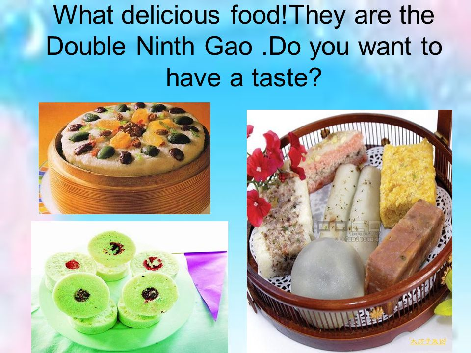 What delicious food!They are the Double Ninth Gao.Do you want to have a taste?