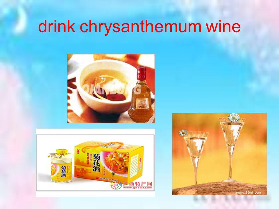 drink chrysanthemum wine