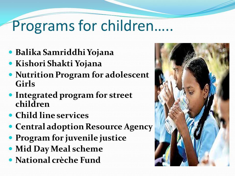 Programs for children…..