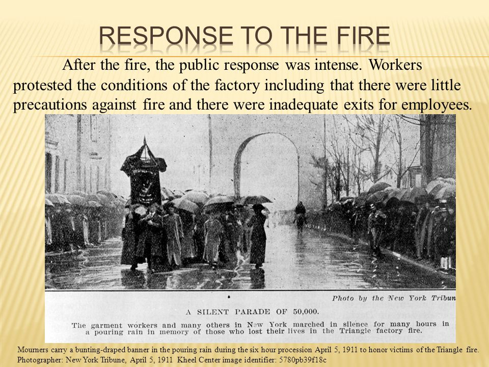 After the fire, the public response was intense.